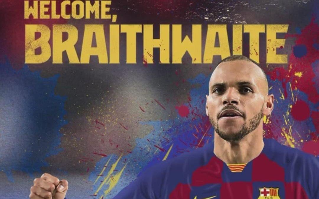 Es oficial llega el delantero Martin Braithwaite al Barcelona