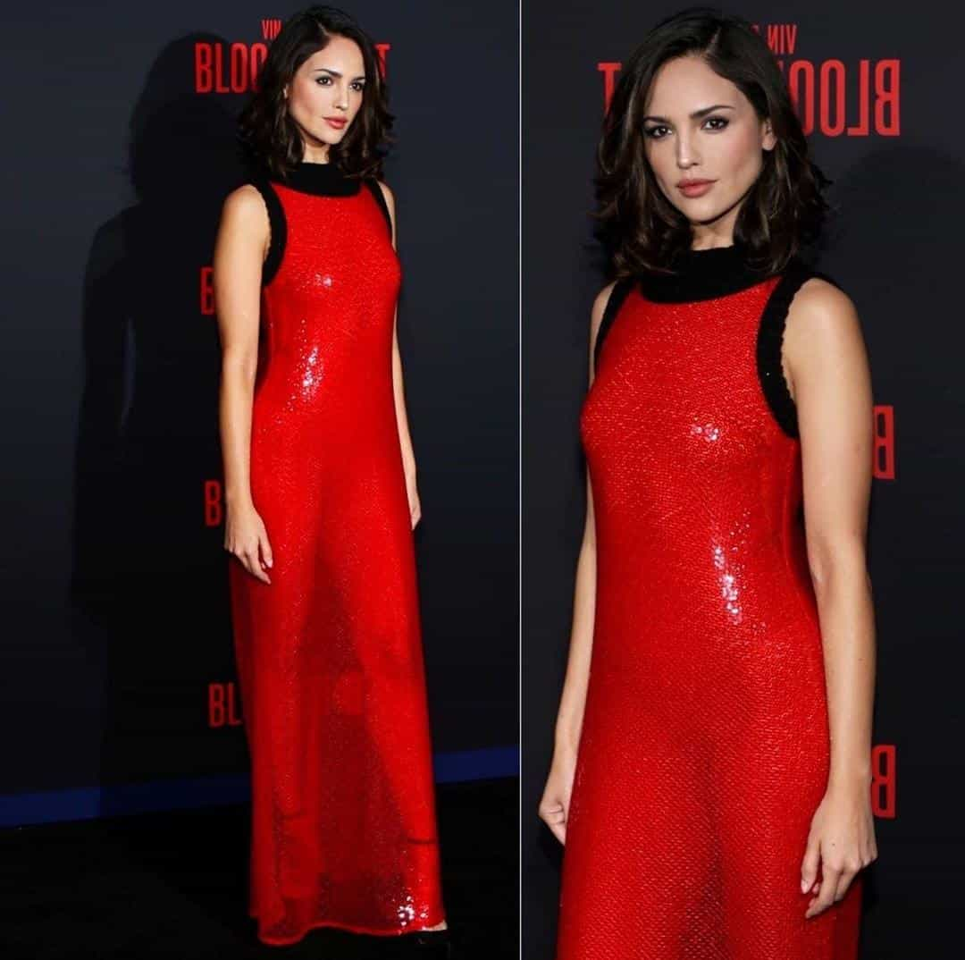 """Eiza González en la alfombra roja de la premier """"Bloodshot""""."""