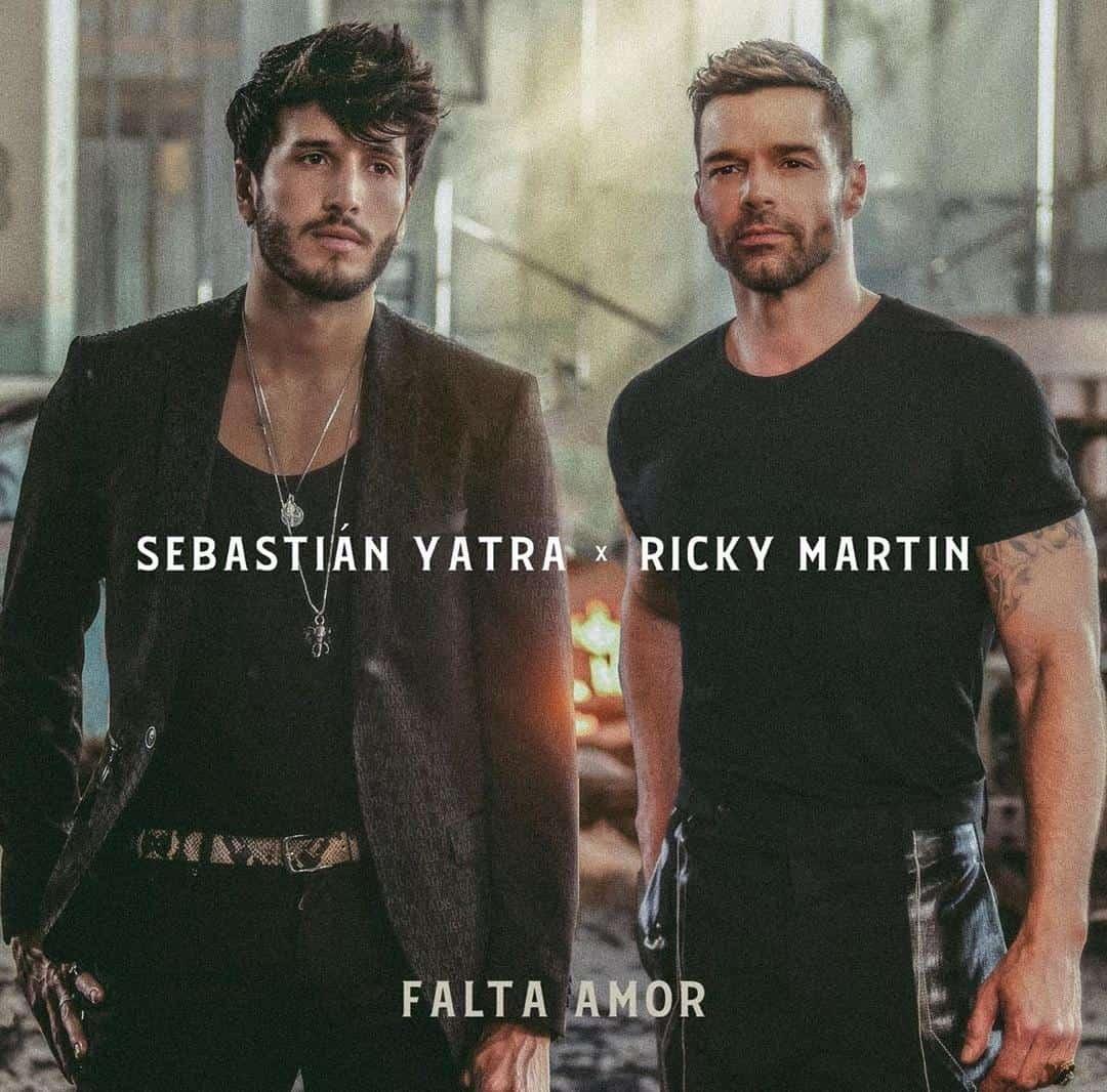 """Sebastián Yatra y Ricky Martin anunciaron el lanzamiento de """"Falta de amor""""."""