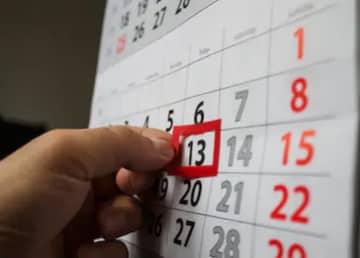 Fecha en el calendario día viernes 13.