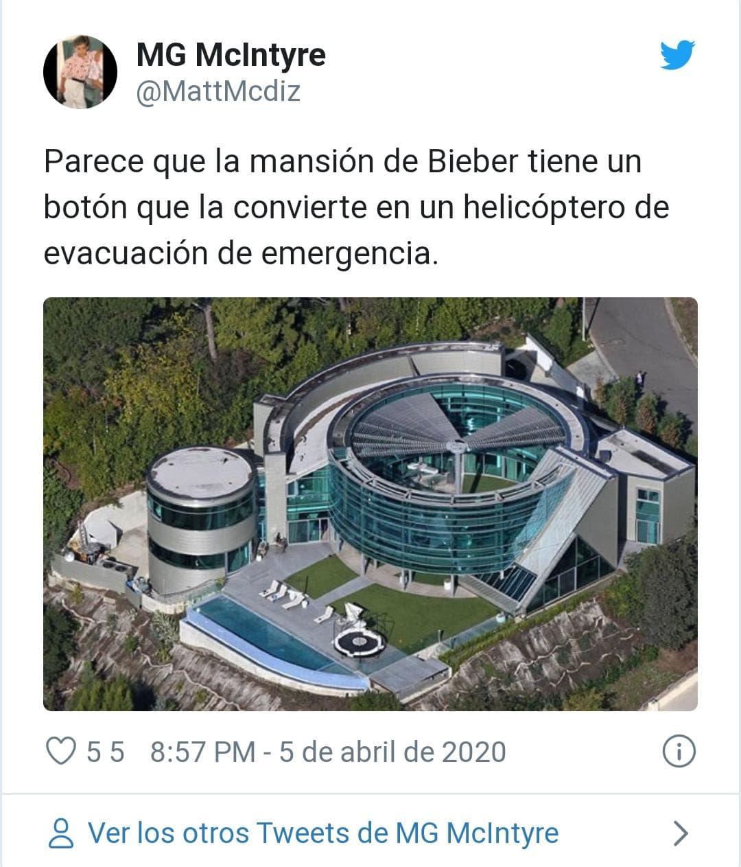 La ex lujosa mansión de Justin Bieber.