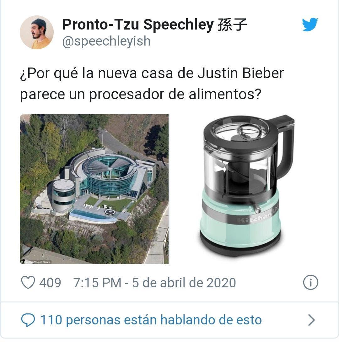 La ex lujosa casa de Justin Bieber es comparada con una licuadora.