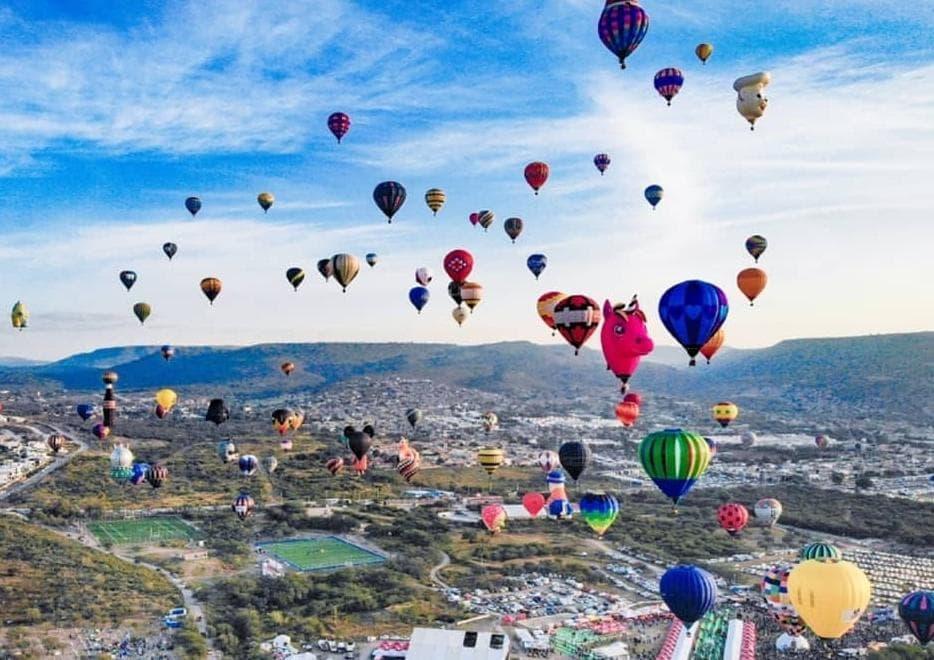 Festival del Globo en León, Guanajuato.