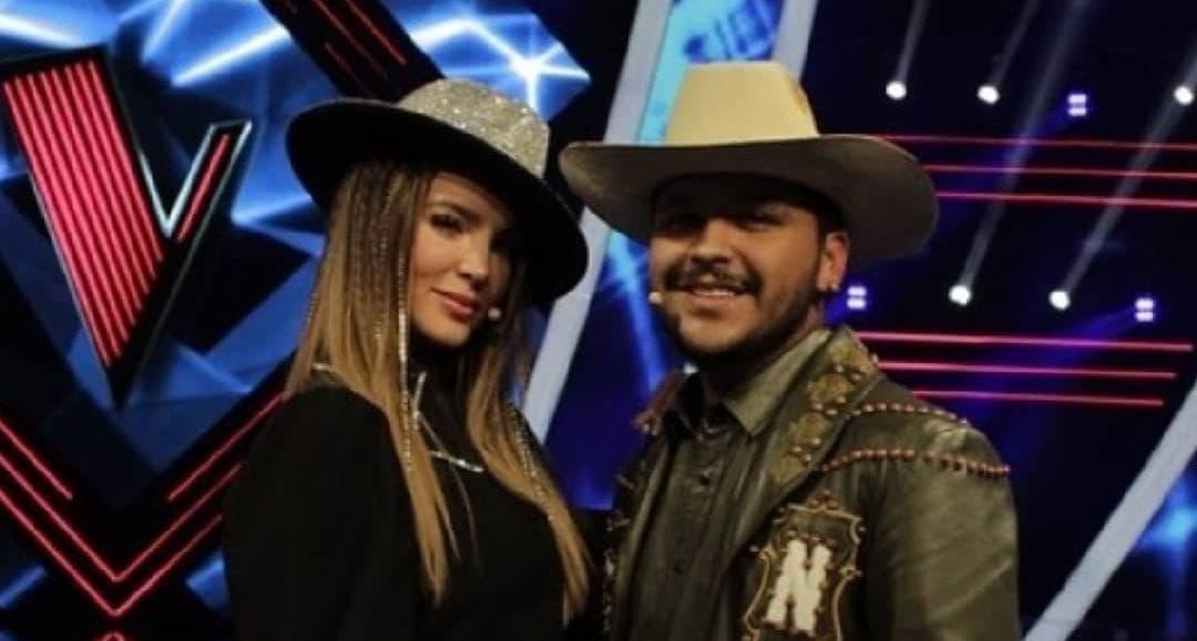Christian Nodal y Belinda en el programa de La Voz México.