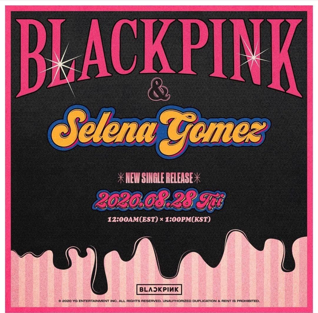 BlackPink y Selena Gomez confirman colaboración musical.