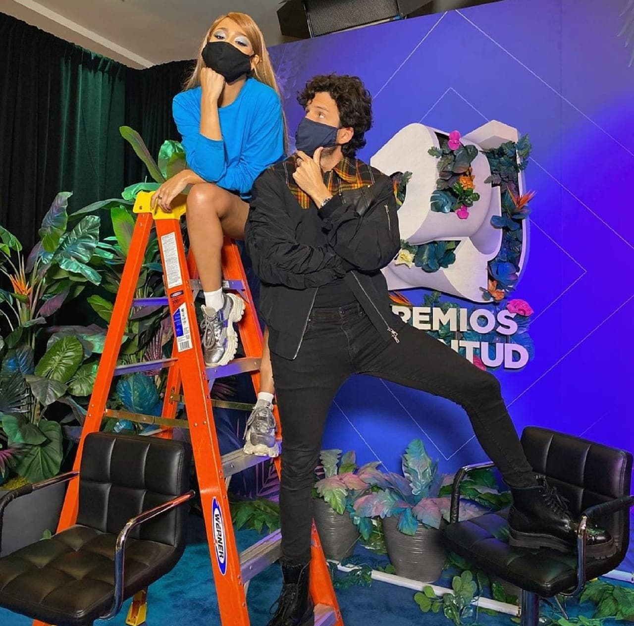 Danna Paola y Sebastián Yatra se reencuentran.