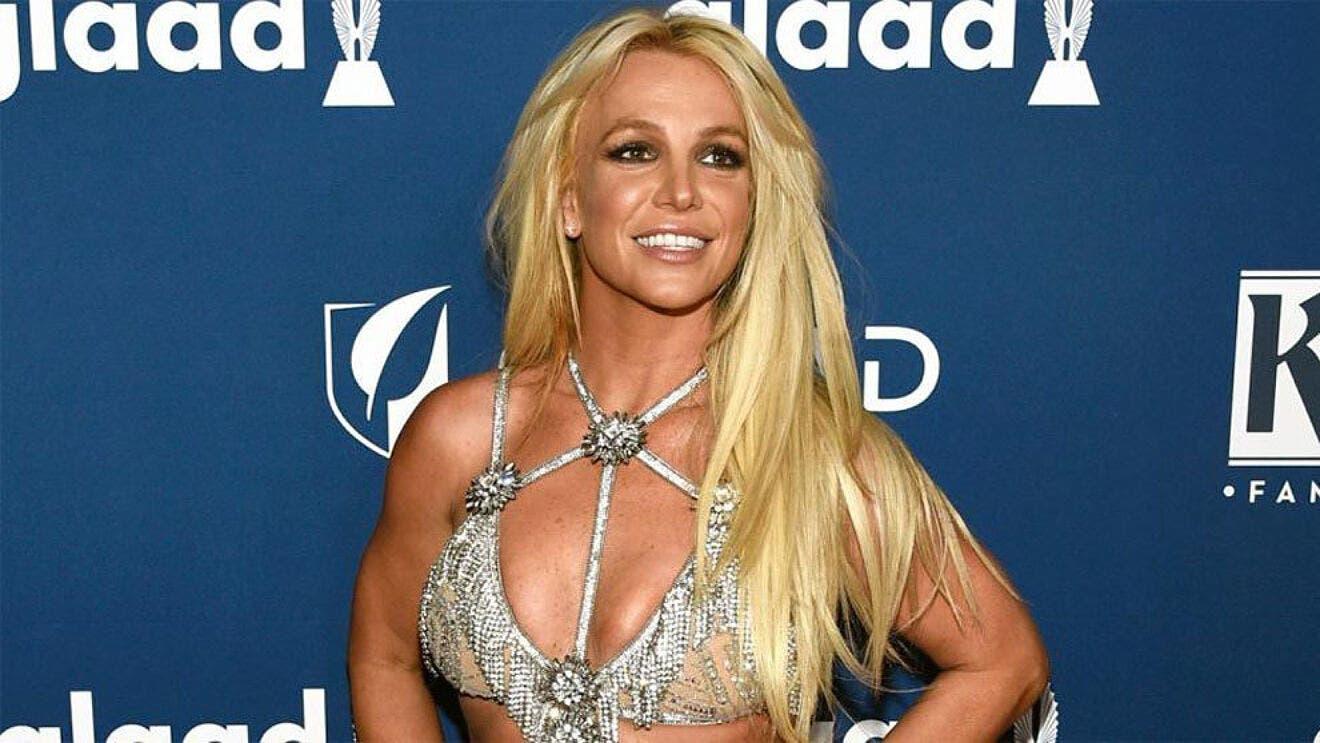 Britney Spears en la gala de una entrega de premios